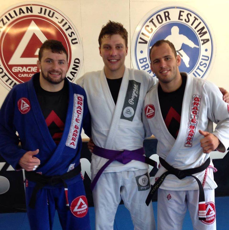 Gracie Barra Nottingham's Sean Coates takes purple belt Europeans package